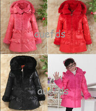 2014 new girl down Children's jackets girls down jacket long thicker coat jacket