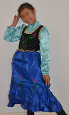 New Girls Frozen Anna Dress Costume Size 2,3,4,5,6,8