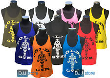 Gold's Gym Stringer Vest - Tank Top - Bodybuilding - Golds Gym Vest -All Sizes