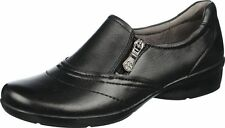 Women's Naturalizer Clarissa Oxfords Leather Casual Shoes Black Extra Wide (WW)