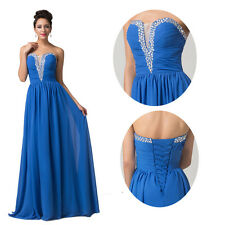 Sexy V-Neck Strapless Women LONG Formal Evening Prom Gown Bridesmaid Party Dress