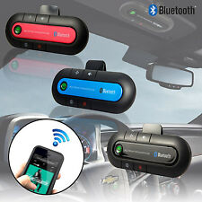 Ultra Slim Bluetooth Handsfree Speaker Phone + Charger Car Kit for Mobile Phone