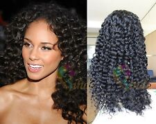 Stock Glueless Deep Curly Lace Front Wigs 100% human hair for African American
