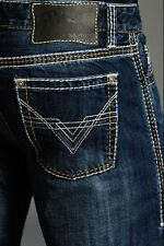 Rock N & Roll Cowboy Pistol Slim Fit Bootcut Leg Embroidered Jeans M0C1620 NWT