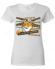 FOX ring ring ding ding funny WOMAN T-SHIRT what does the Fox says tee
