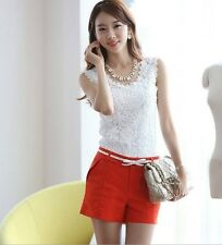 Sexy Women's Lady Korea Floral Lace Crochet Sleeveless Vest Tank Top Camisole