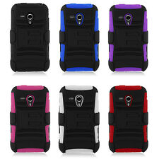 Samsung Galaxy Rush M830 Rugged Hybrid case cover with Belt-Clip Holster Bundle