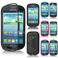 Wrap Up Case Cover w/ Built-In Screen Protector For Samsung Galaxy S3 Mini i8190