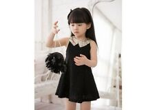 Hot Sale Girls Toddlers Kids Princess Party White Black Lace Dress Size 2-7Y
