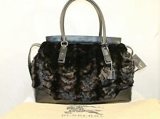 NWT BURBERRY PRORSUM RUNAWAY MINK BIG MEN SHOULDER BAG MSRP $8000