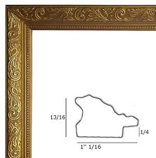 Gold picture frame wood