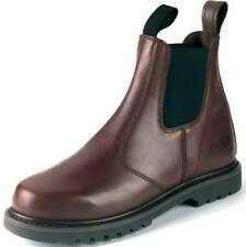 DEALER BOOT NON SAFETY SLIP ON LEATHER CHELSEA FARM WORK BOOT  HOGG SHIRE