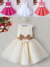 Cream/White/Hot Pink/Coral - Flower Girl/Bridesmaid/Party/Christening/Prom Dress