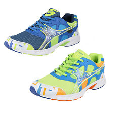 Mens Airtech Lace-Up Trainers in Royal Blue Mix or Neon Green Mix - ACTIVE