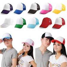 HALF MESH TRUCKER SNAPBACK BASEBALL CAP HAT LOTS OF COLOURS!!!