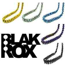 BLAKROX Mens Crystal Chain Black Shamballa Necklace Rick Ross 2014