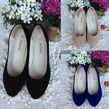 Women' s Lady's Suede Shoes Slippers Loafers Moccasins Ballet Slip-on Flats BT02
