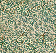 William Morris Willow Bough Green Ready Made  Unlined Curtains Le Chateau