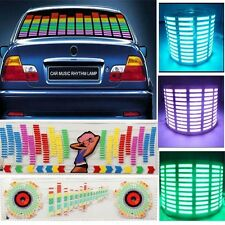 90*25cm Car Sound music Activated equalizer LED Flash Light Sticker Kit