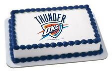 NBA Oklahoma City Thunder ~ Frosting Sheet Cake Topper ~ Edible Image ~ D907