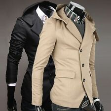 CHEAP SALE Men's Sexy Fit 3 Buttons Blazers Hooded Hoody Coat Suits Jackets Tops