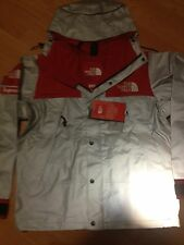 SUPREME 2013 SS NORTH FACE REFLECTIVE 3 M MOUNTAIN PARKA JACKET WAXED RED LARGE