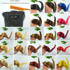"""Faster Shipping 20""""L 6Pcs Remy Clip In Hair 100% Real Human Extensions,30g Sale"""