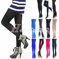 Ladies Ladies Fashion Sexy Candy Color Opaque Stockings Pantyhose Tights 120D