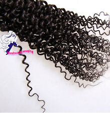 1pc 100% 6A unprocessed Virgin Indian Hair Extension Weft Kinky Curly Hair  BL