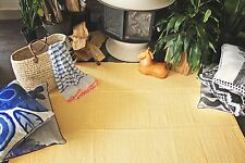 Fab Habitat Indoor Outdoor Patio Rug Mat Zen~ Yellow & White -Choose Size