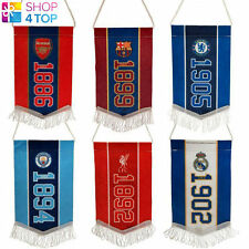 OFFICIAL FOOTBALL CLUB MINI PENNANT HANGING FAN CAR ROOM ACCESSORY TEAM LICENSED