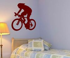 Wall Decal Sticker Cyclists Bicycle Sport Wall Stickers Portrait 5G013
