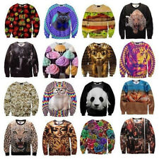 Women/Men Space Galaxy Pullover Sweaters 3D Sweatshirt Tops T-Shirt hot sale