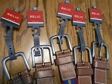 Relic Mens Size 4-Color Fabric Belts with  Leather Tips &  Buckle SR $30 NWTS
