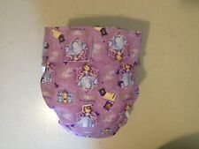 Adult Baby Diaper, Princess in Training, Fully Functional AIO, Extra Padding