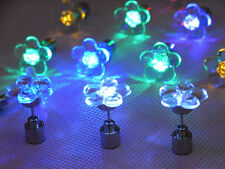 New One LED Glowing Light Up Led Blinking Ear Stud Earrings Club Ball Party NZT