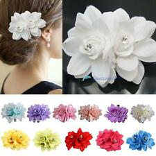 Chic 12 color Hair Flower Clip Pin Bridal Wedding Prom Party Gift for Women DC