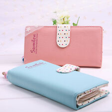 New Women Lady  Long Purse Clutch Bifold Leather Wallet Zip Bag Card Holder