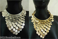 Belly Dance Necklace Choker Egypt Ethnic Gypsy Tribal Coins Beads Jewelry   101