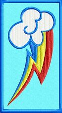 MLP:FIM Rainbow Dash Cutie Mark Patch: Sew-On, Iron-On or Velcro