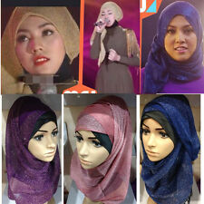Hijab Silk Yarn Under Scarf Hat Muslim headscarf Islamic Head Band Neck Cover