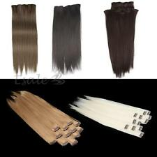 Soft Natural Clip in Straight Hair Extensions Styling Accessories