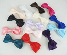 1Pair(2Pcs) Double Layer Hair Bows Clips Satin