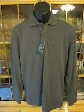 Arrow Cotton Blend Size S Solid Long Sleeve Polo Rugby Shirts SR $50 NEW