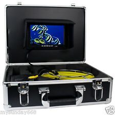"7""TFT Color Sewer Pipe Inspection Snake Video Camera GSY9200D 600TVL 12LED DHL"