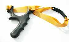 Powerful Polymer Hunting Catapult Fitted Theraband Gold BloodShot TTF Slingshot
