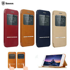 Baseus Smart Slide Magnet Flip PU Leather Cover Case Stand For iPhone 6 6 Plus
