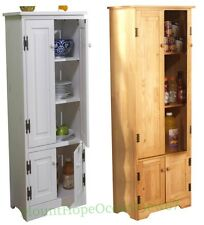 Tall Pine Wood Cabinet Cupboard Storage Bathroom Linen Pantry Hutch Kitchen