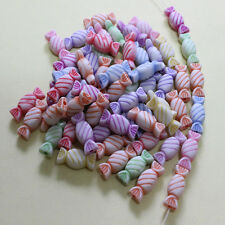 50-500 frosted acrylic candy charm beads color mixed children's arts and crafts