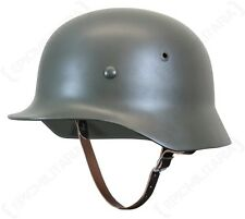 German Army M35 STEEL HELMET with Leather Liner - All Sizes - WW2 Heer Stalhelm